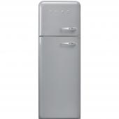 SMEG上冷冻双开门冰箱50's style系列metal grey外观